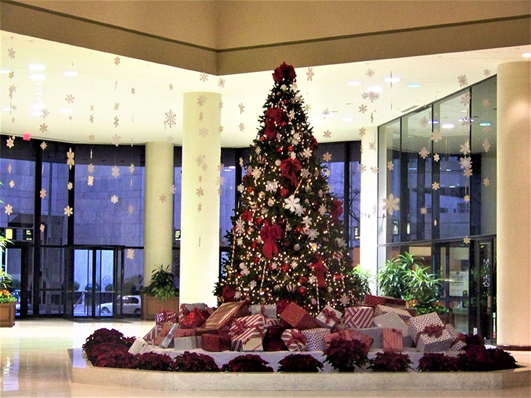 Commercial Christmas Decorating Service Interior